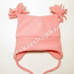 Шапка с кисточками (розовая)