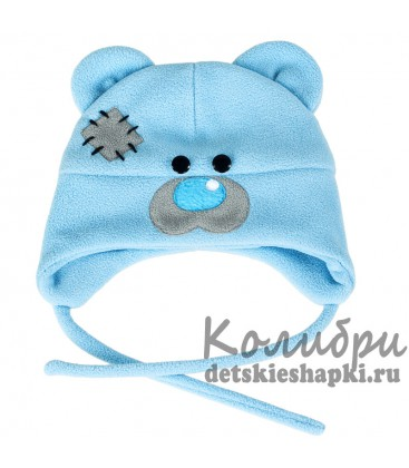 "Шапочка ""Мишка Тедди"" голубая"
