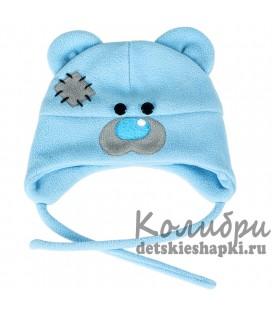 """Шапка """"Мишка Тедди"""" голубая"""