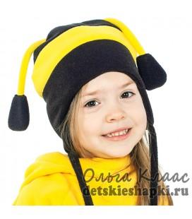 """Утепленная шапка """"Пчёлка"""""""